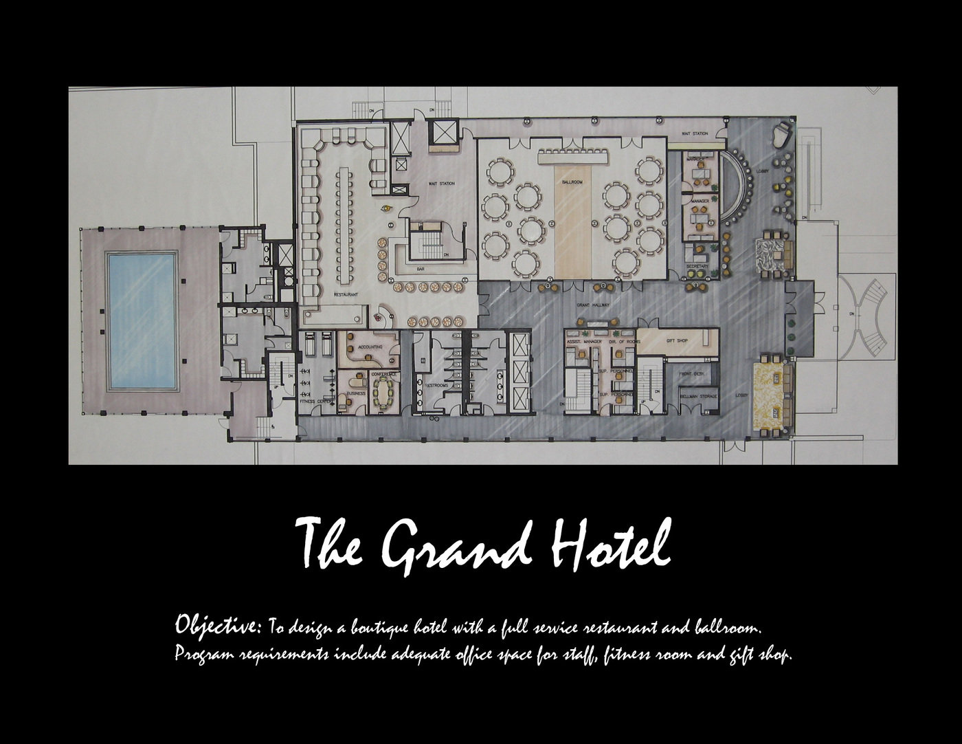 Floor plan a small boutique hotel with ultra chic interiors and eclectic furnishings