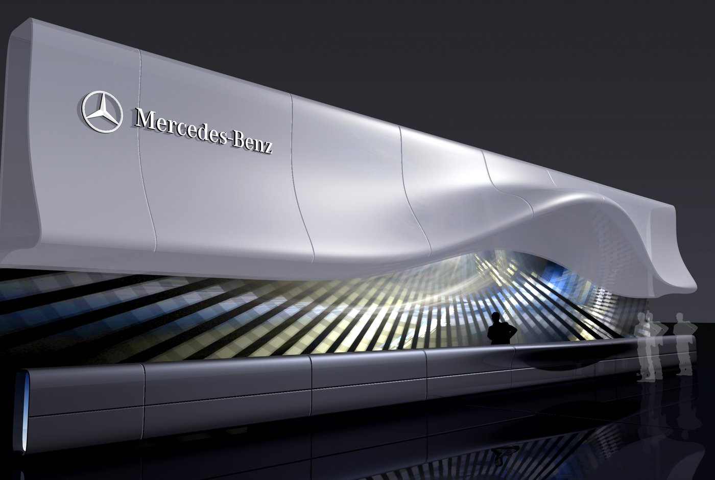 Exhibition Stand Design Proposal : Mercedes benz proposal by dmitry azrikan phd at coroflot