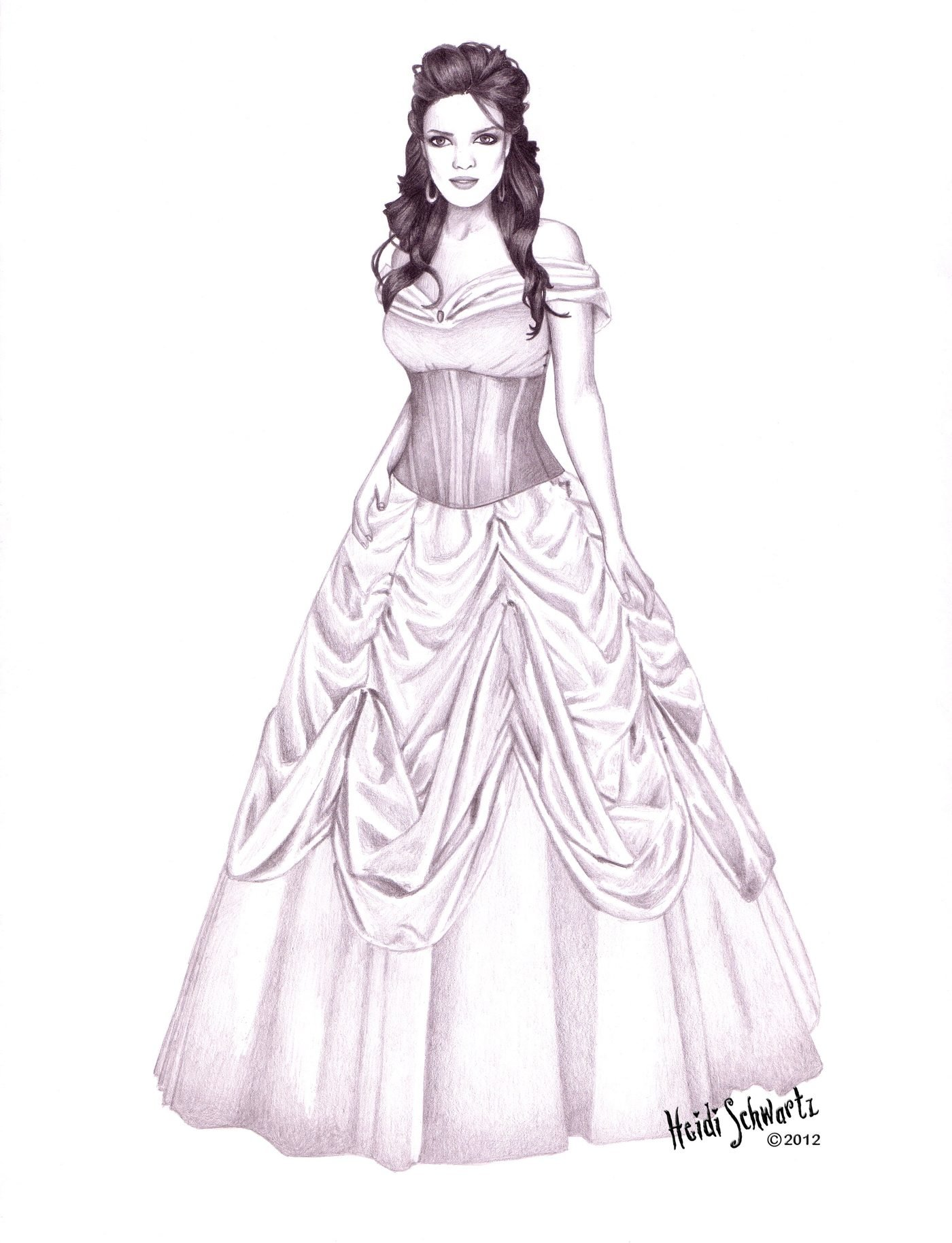 Belle Beauty And The Beast Character Development Drawings By Heidi Schwartz At Coroflot