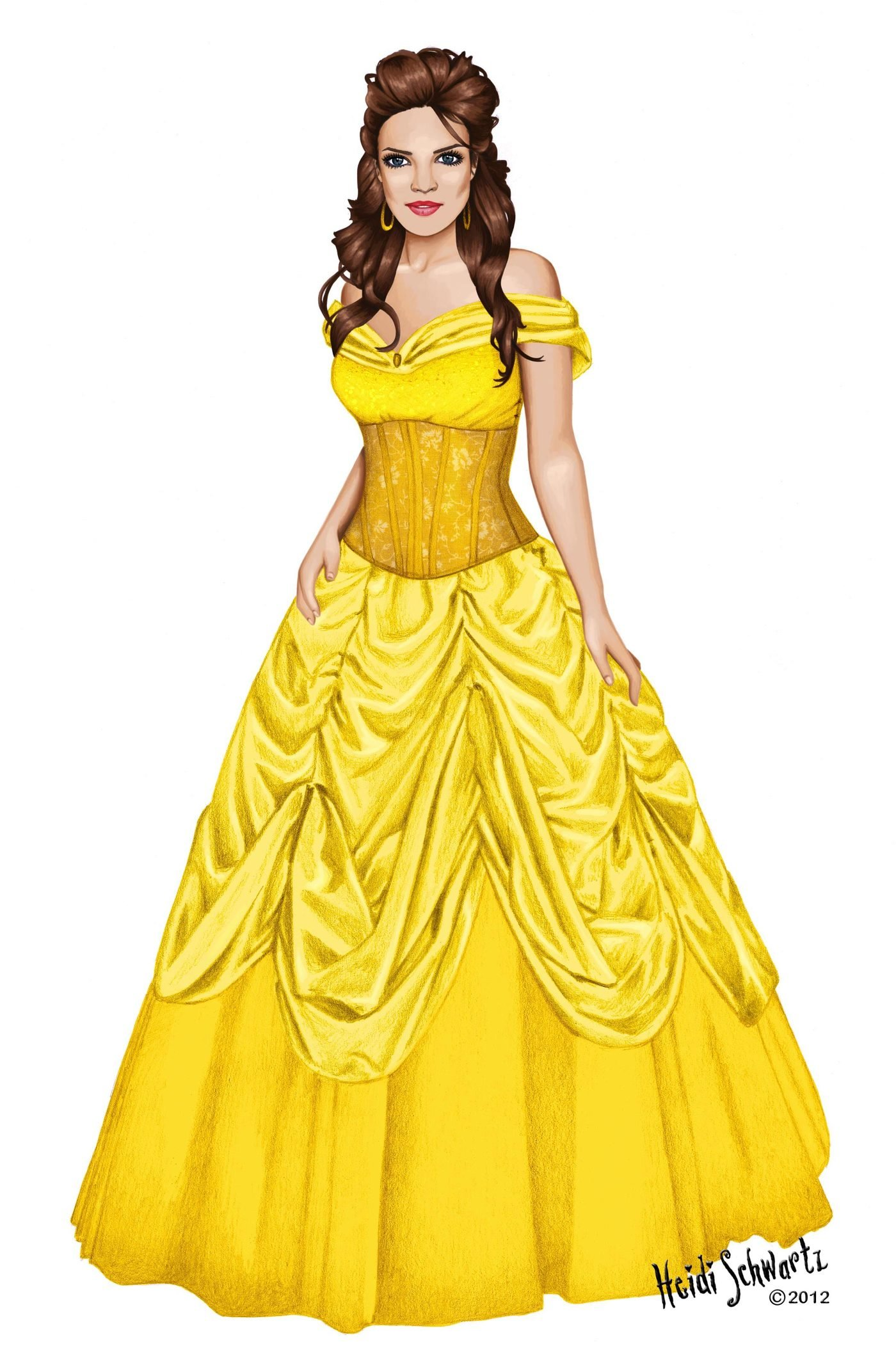 Belle Beauty And The Beast Digital Character Development By Heidi Schwartz At Coroflot