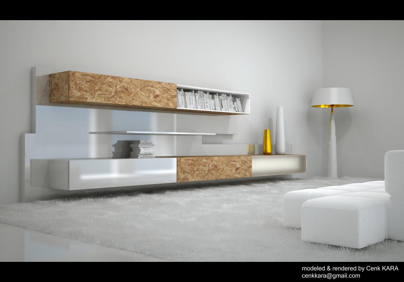 OSB Library U0026 Bullet Lamp   Interior Concepts By Cenk KARA