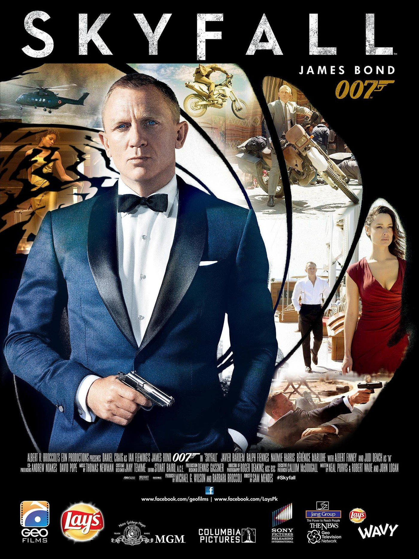 Skyfall autographed movie poster