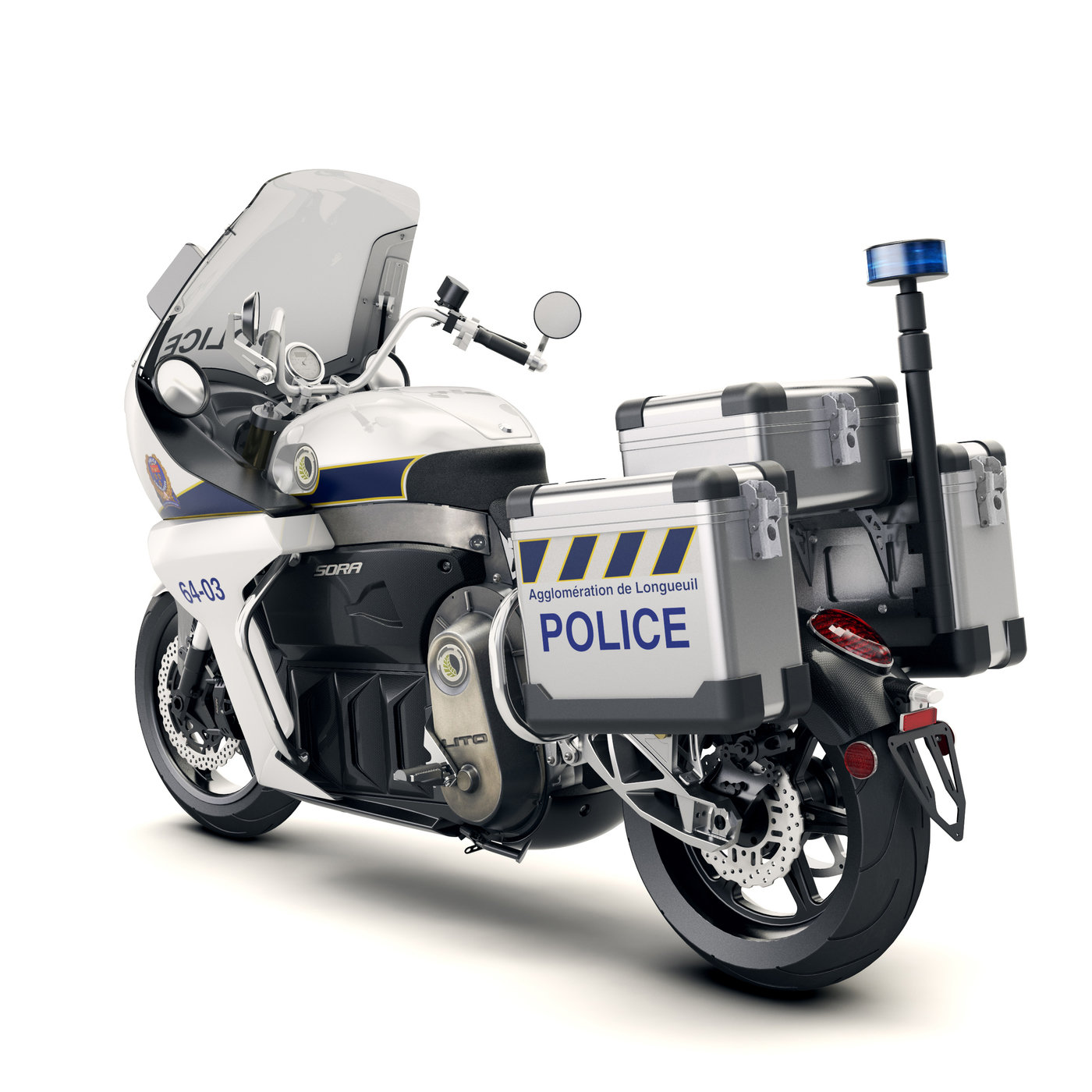 lito police electric motorcycle by martin aub at. Black Bedroom Furniture Sets. Home Design Ideas