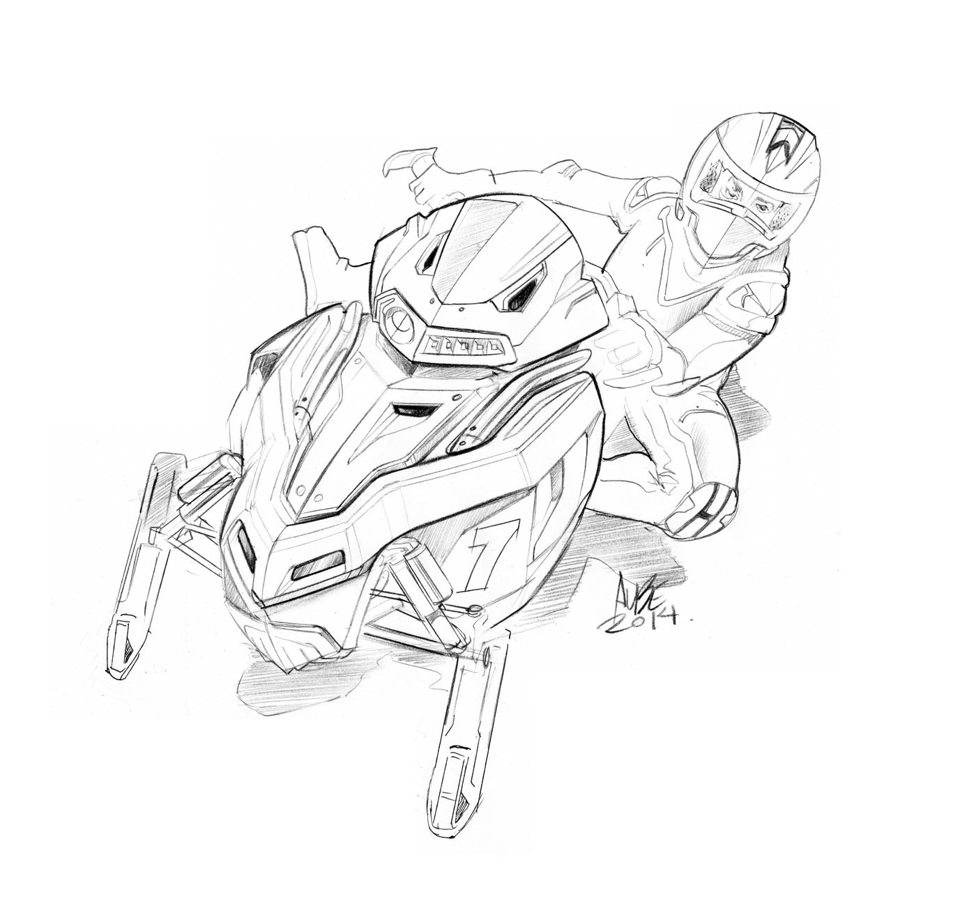 Snowmobile Free Coloring Pages