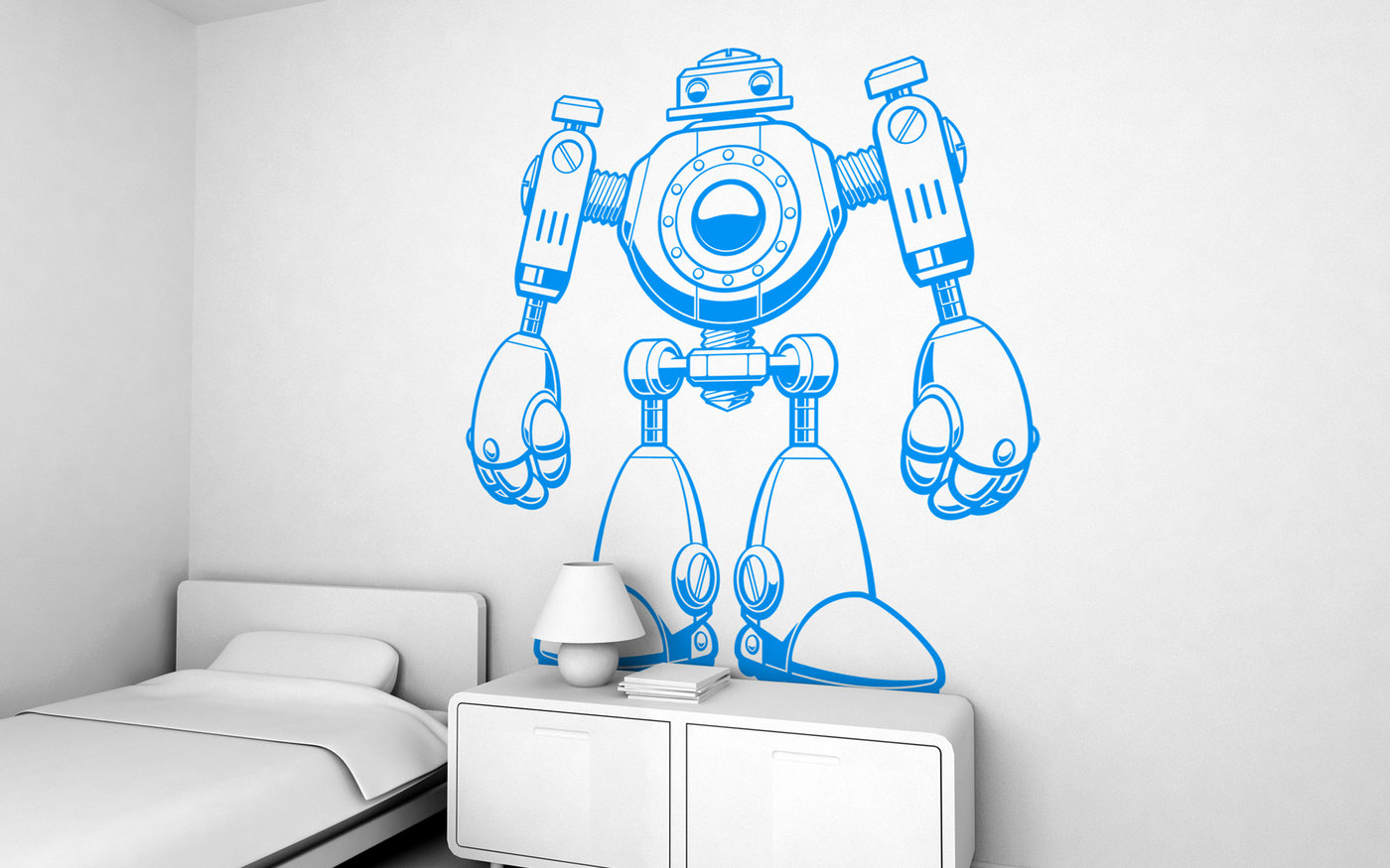 Giant kids wall decals by e glue studio at coroflot jojo the robot giant wall sticker for baby nursery or kids room amipublicfo Gallery
