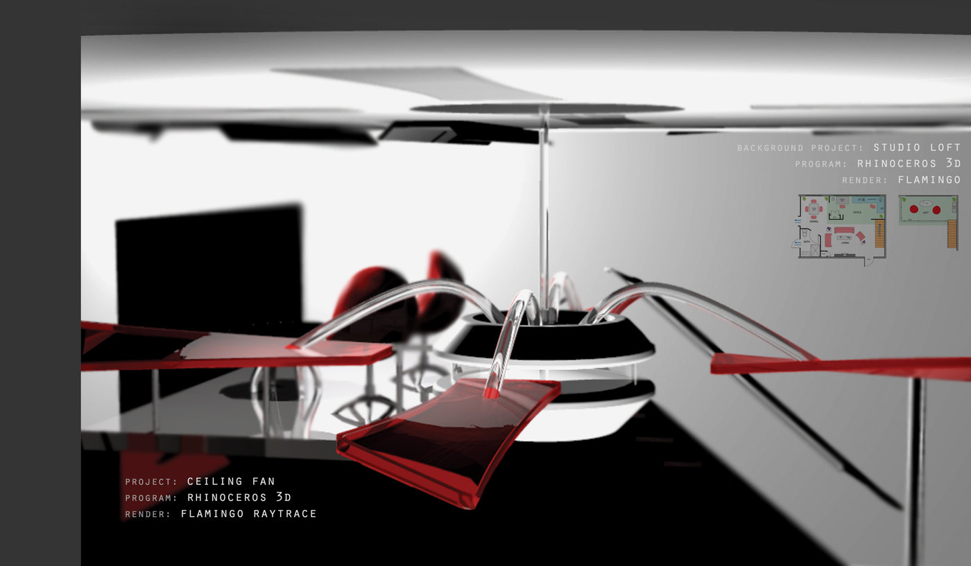 3d modeling rendering by jeremy kroll at coroflot ceiling fan mozeypictures Image collections