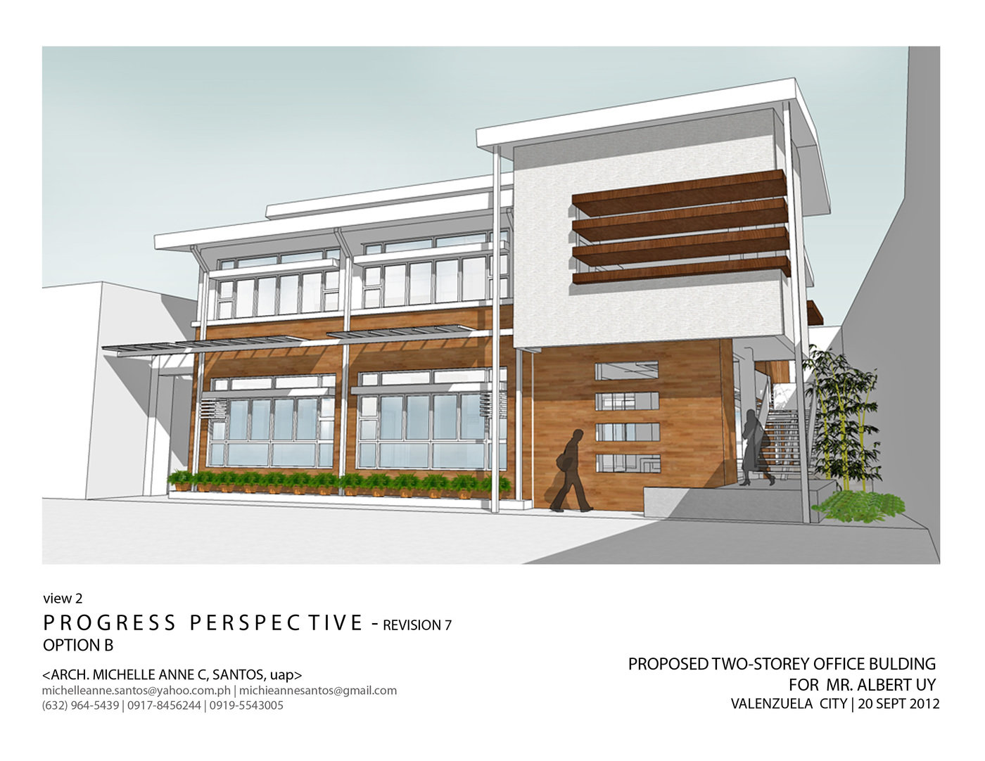 Architecture and interior design by michelle anne santos for House plans with separate office entrance