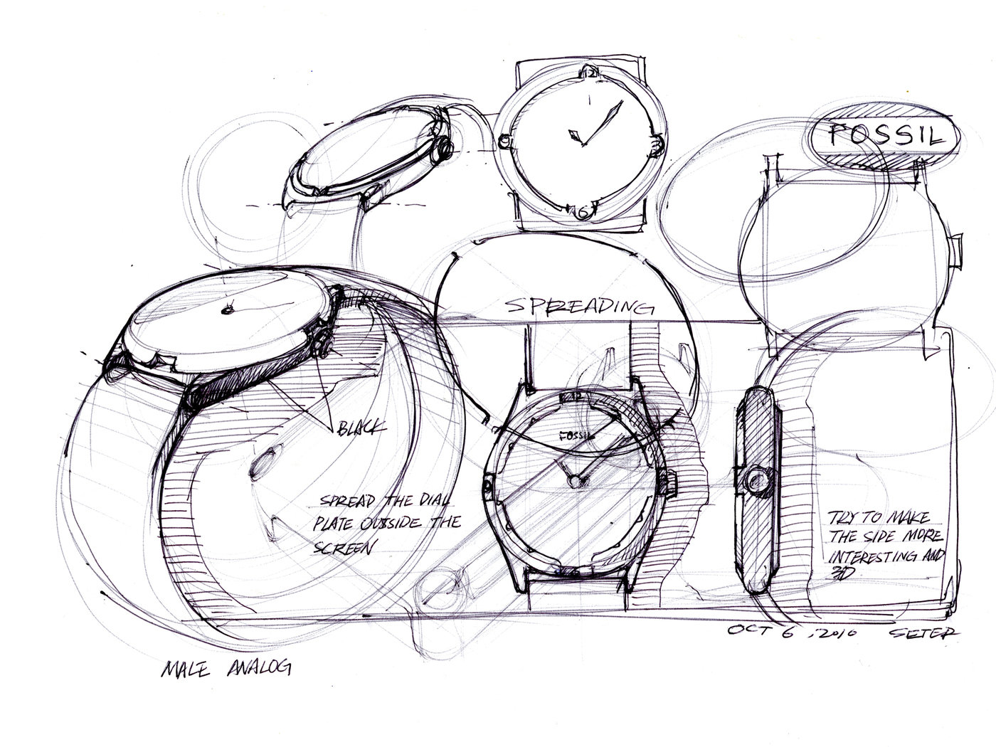 Watch Industrial Design Sketch Sketch Coloring Page