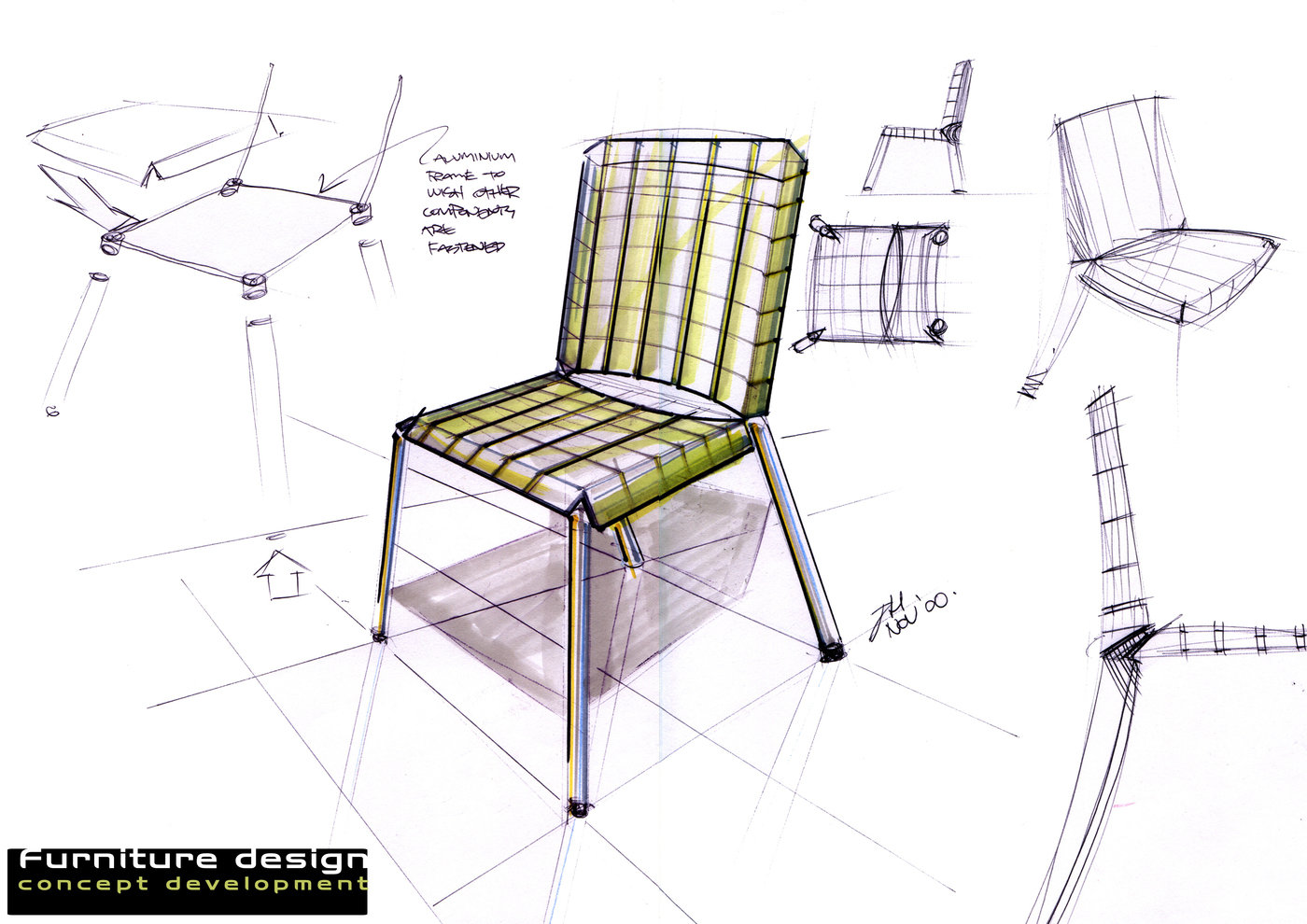 Product and furniture design by joshua hakman at for Furniture sketch design