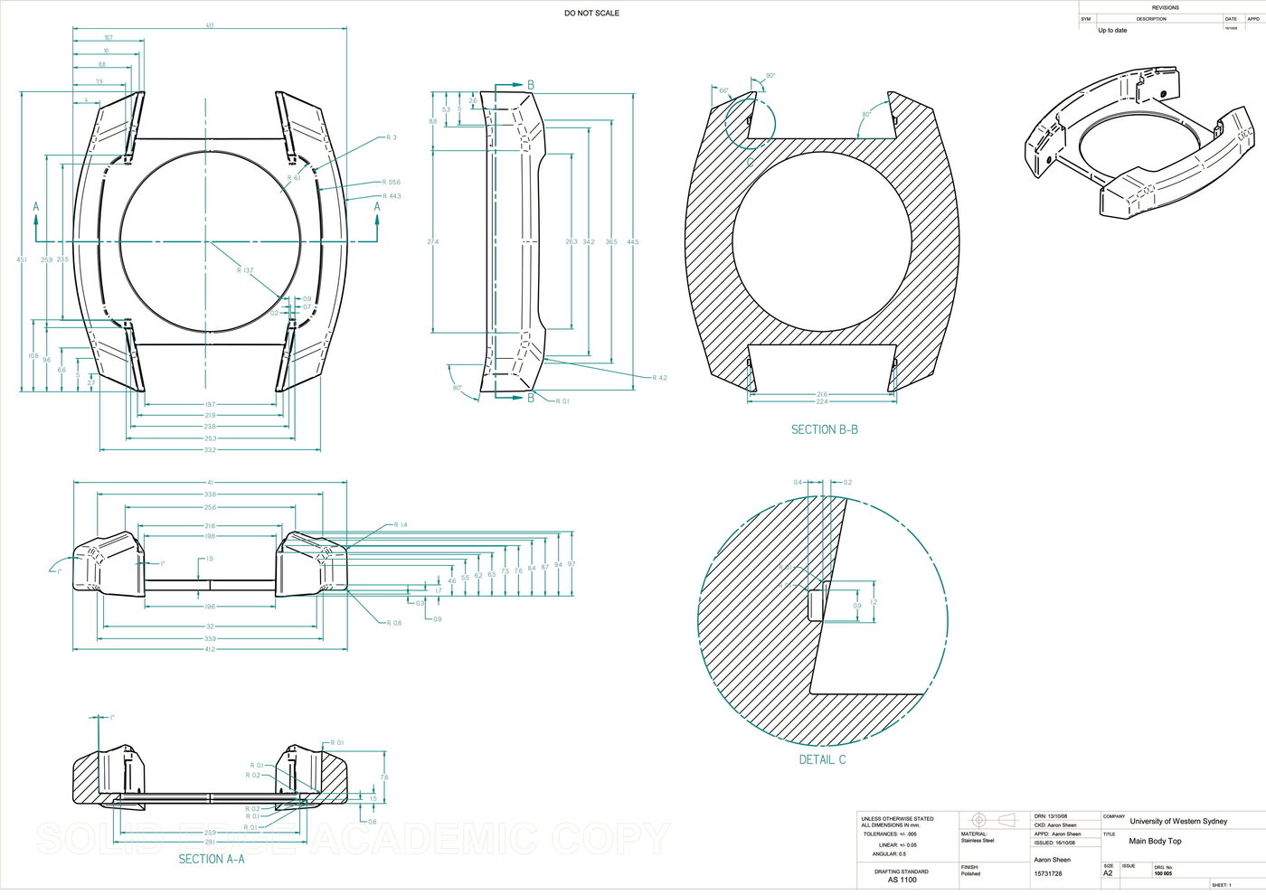 Engineering Drawing Examples By Aaron Sheen At Coroflot Com