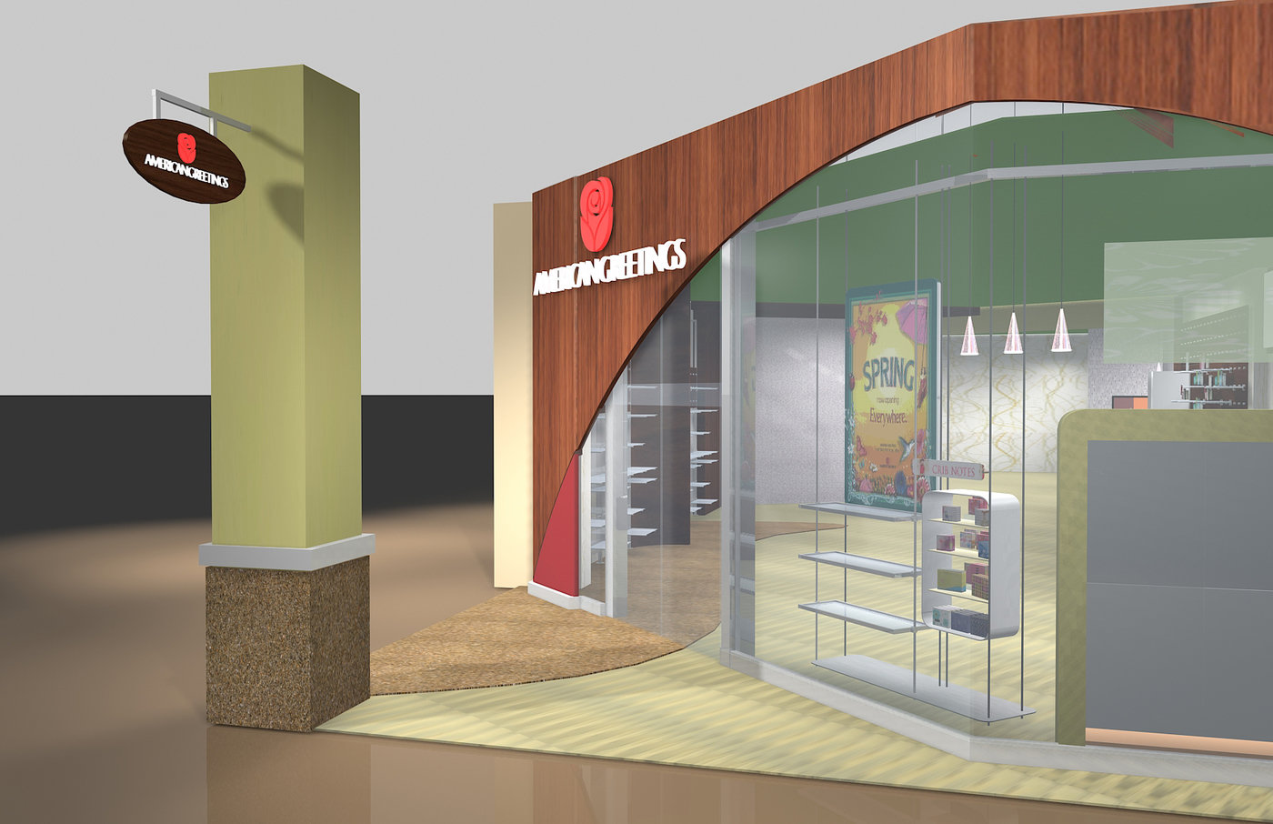 American greetings gallery store concept by elizabeth olson at gallery concept storefront carlton cards retail chain carrying the american greetings and carlton cards brands store located in mayfair mall m4hsunfo Gallery