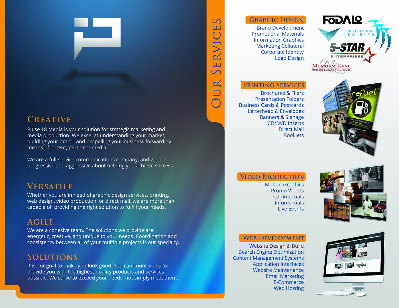 Brochures business cards postcards by brian berkowitch at coroflot the inside of an advertising brochure i designed for the media company i currently work with colourmoves