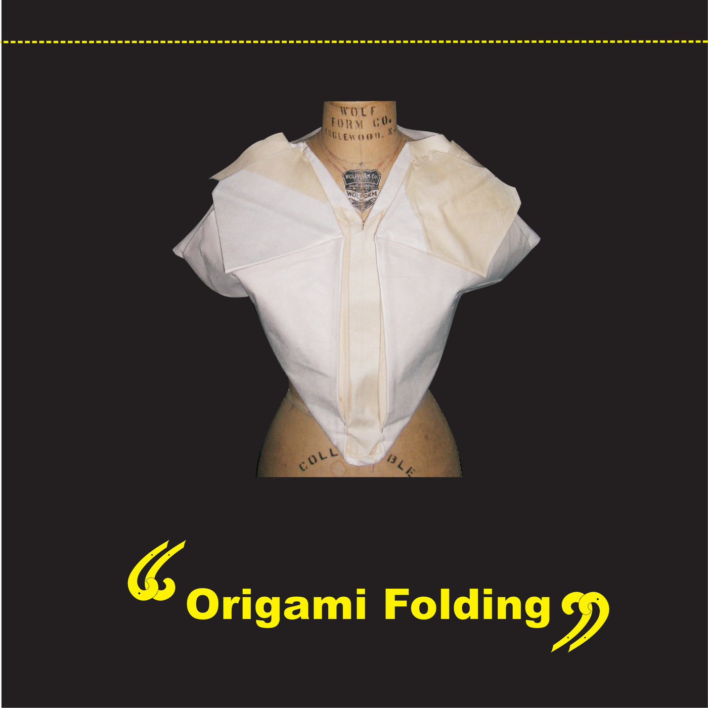 Innovative pattern making by damneet kaur at coroflot origami folding bodice this muslin fit is inspired by the art of origami as it is created by just folding the fabric to create textures and give a jeuxipadfo Gallery