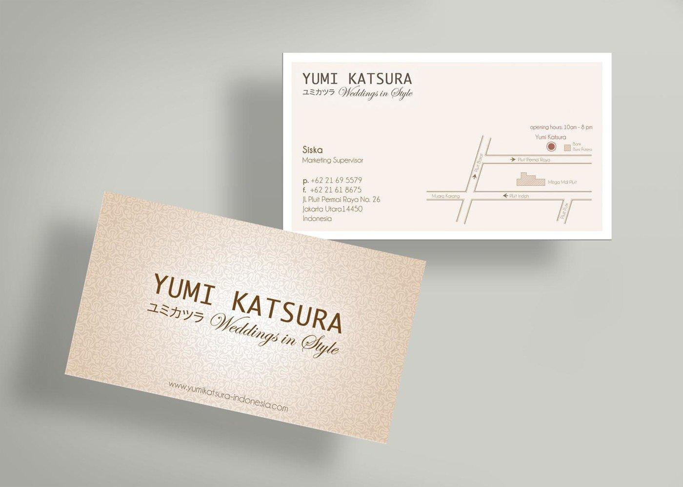 Yumi Katsura - Business Card & Price Tag Design by Sherly Gunawan ...