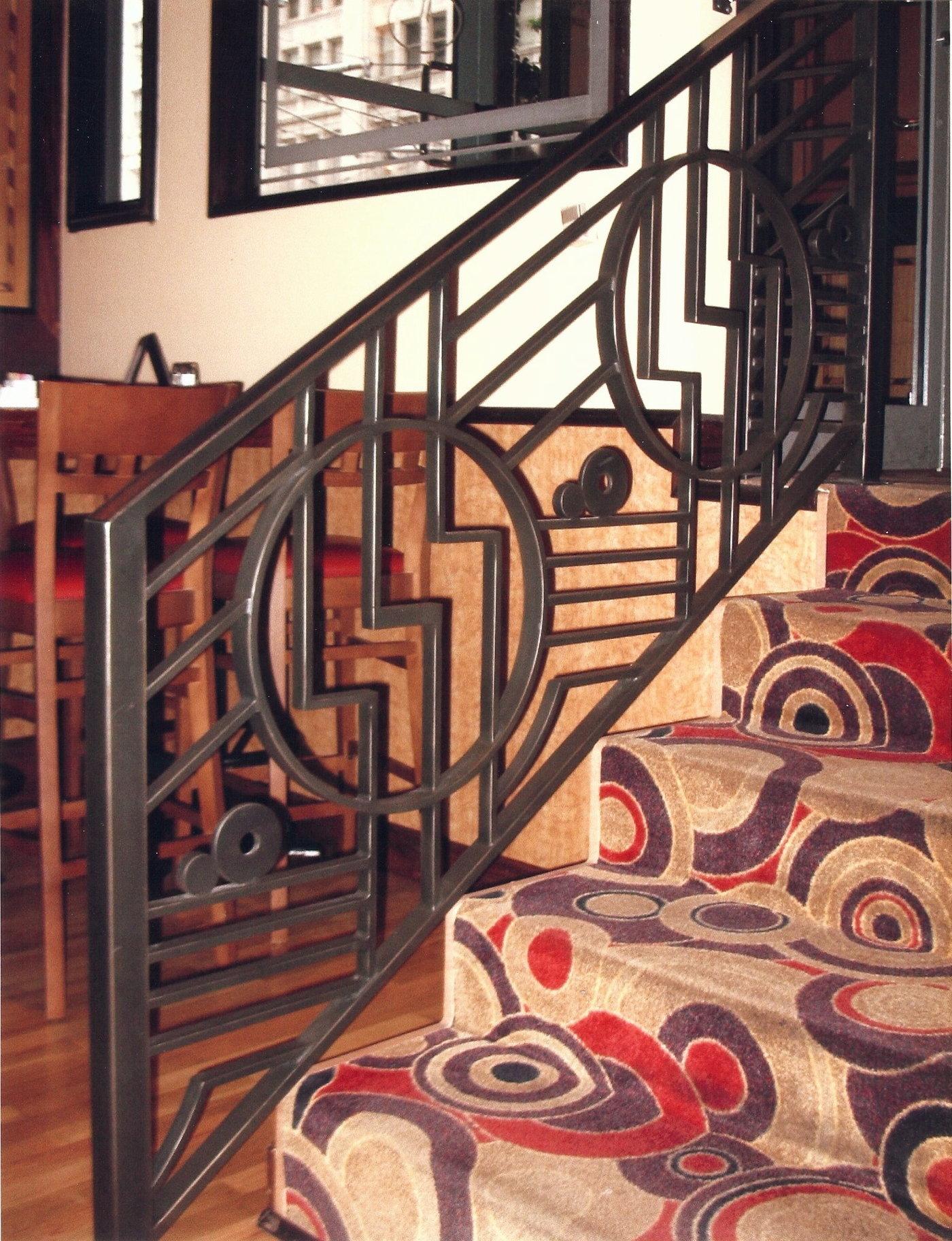 Union Square Grill Railing - Art Deco railing design for the Union Square  Grill in Seattle Washington. Bronze powder-coat finish.