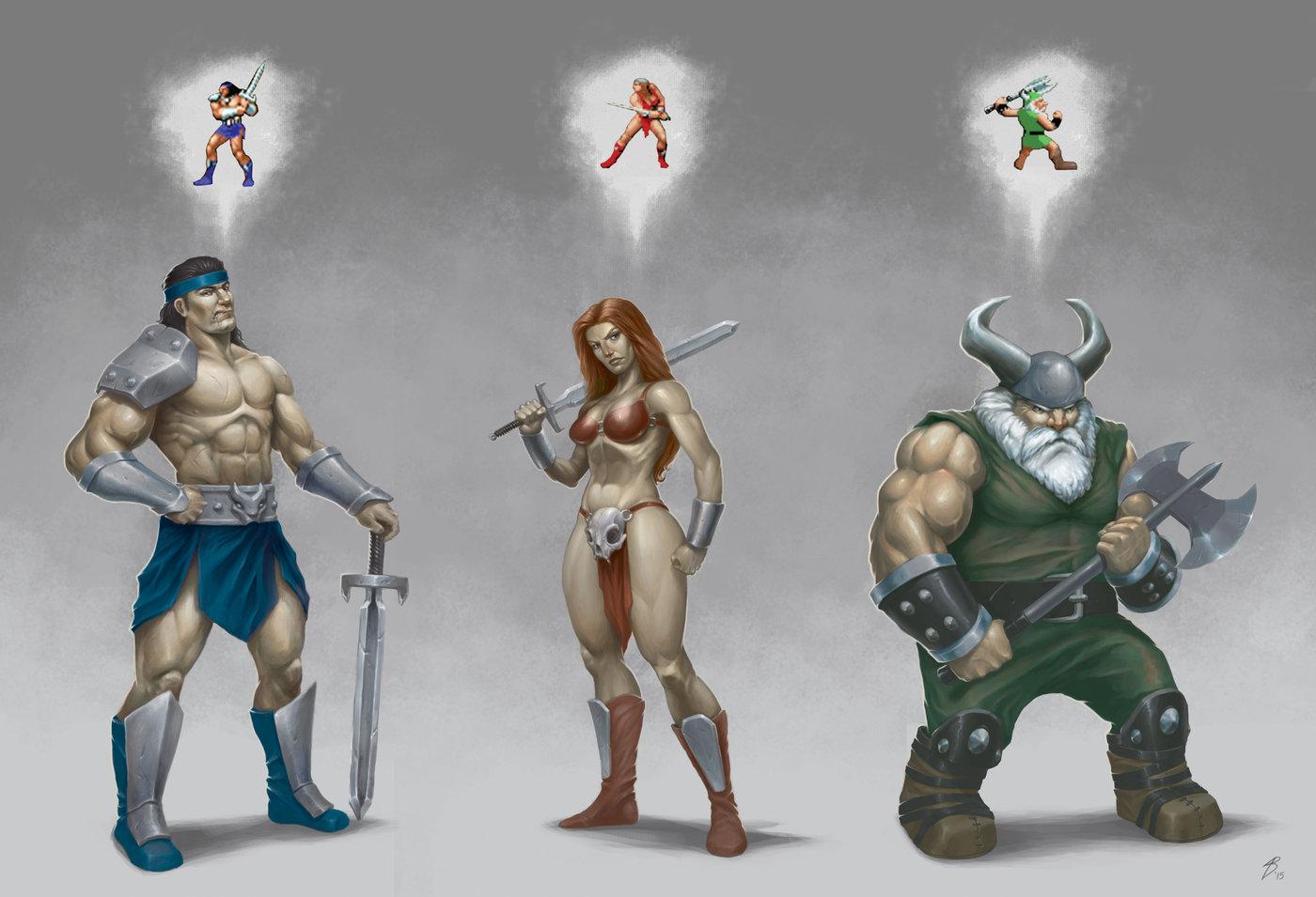 Character Design Artist Salary : Concept art golden axe ii by alex bosoy at coroflot
