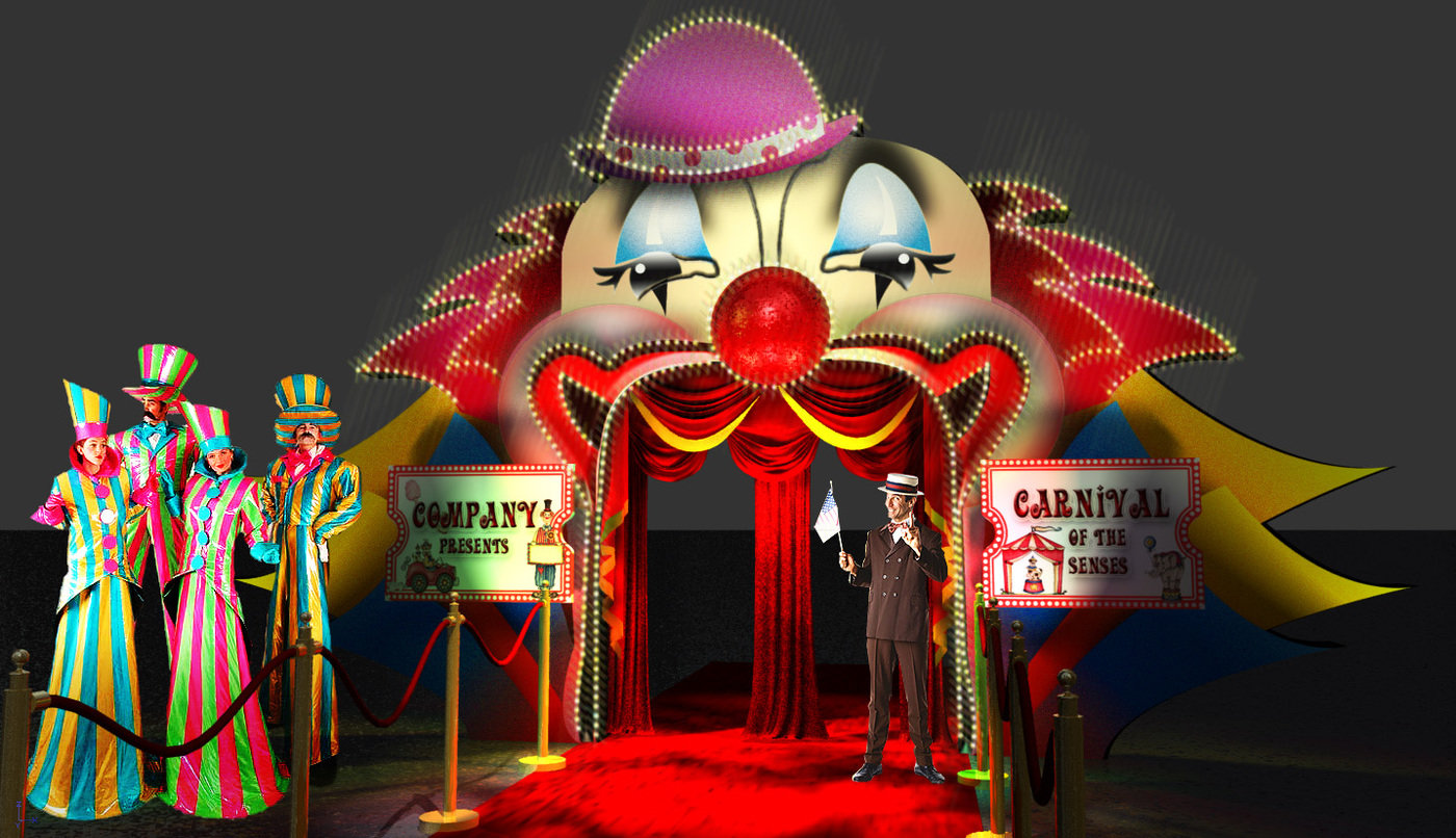 Circus Theme Set Design By Bryan T At Coroflot Com