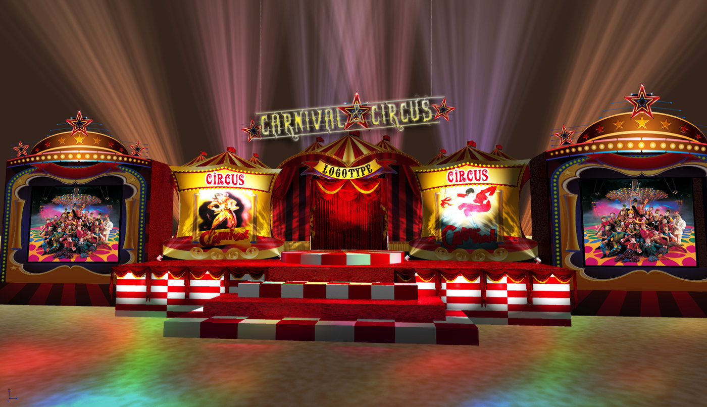 Circus Theme Set Design By Bryan T At Coroflot Com