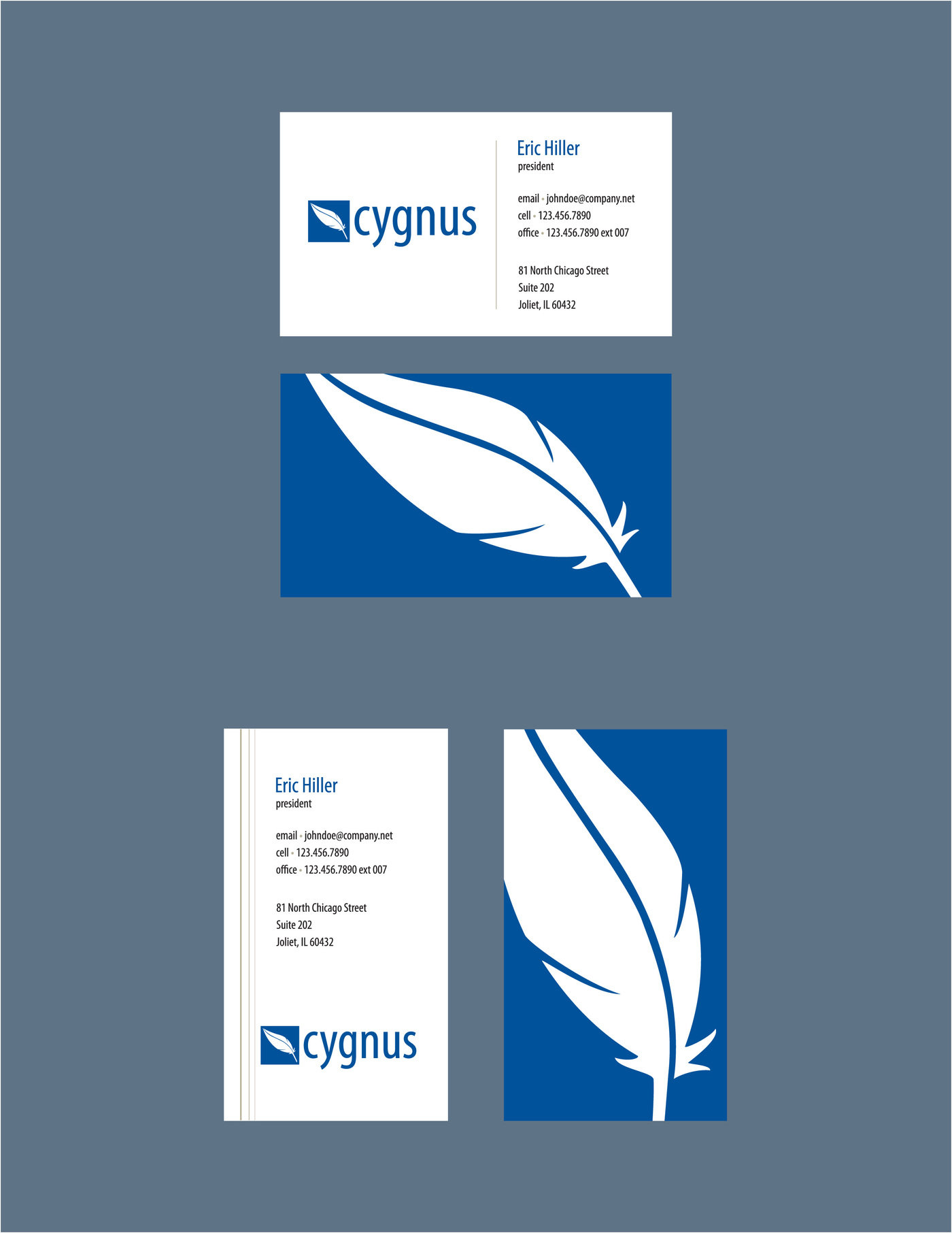 Cygnus identity proposal in progress by karen burcham at business cards cygnus communications is a growing business providing commercial and residential telecommunications services with a large expansion coming reheart Images