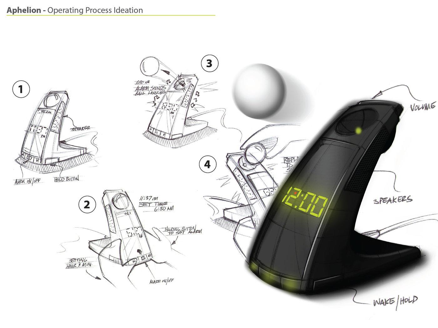 Aphelion Alarm Clock Redesign By Corey Harris At