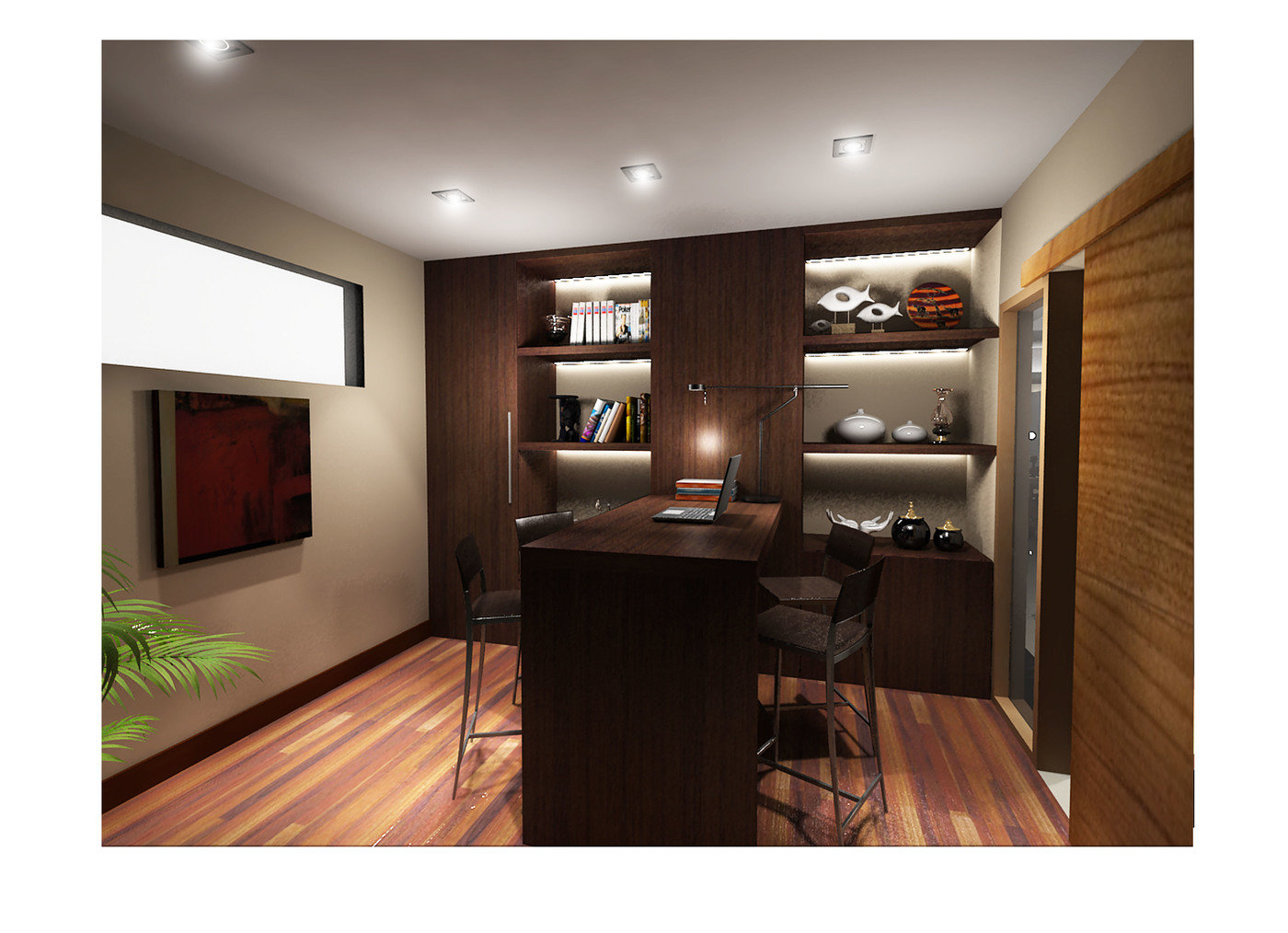 A mixture of study / entertainment room, could you tell from the view? :) -  Some latest 3D rendering for a condo. The job that let me learned about new  ...