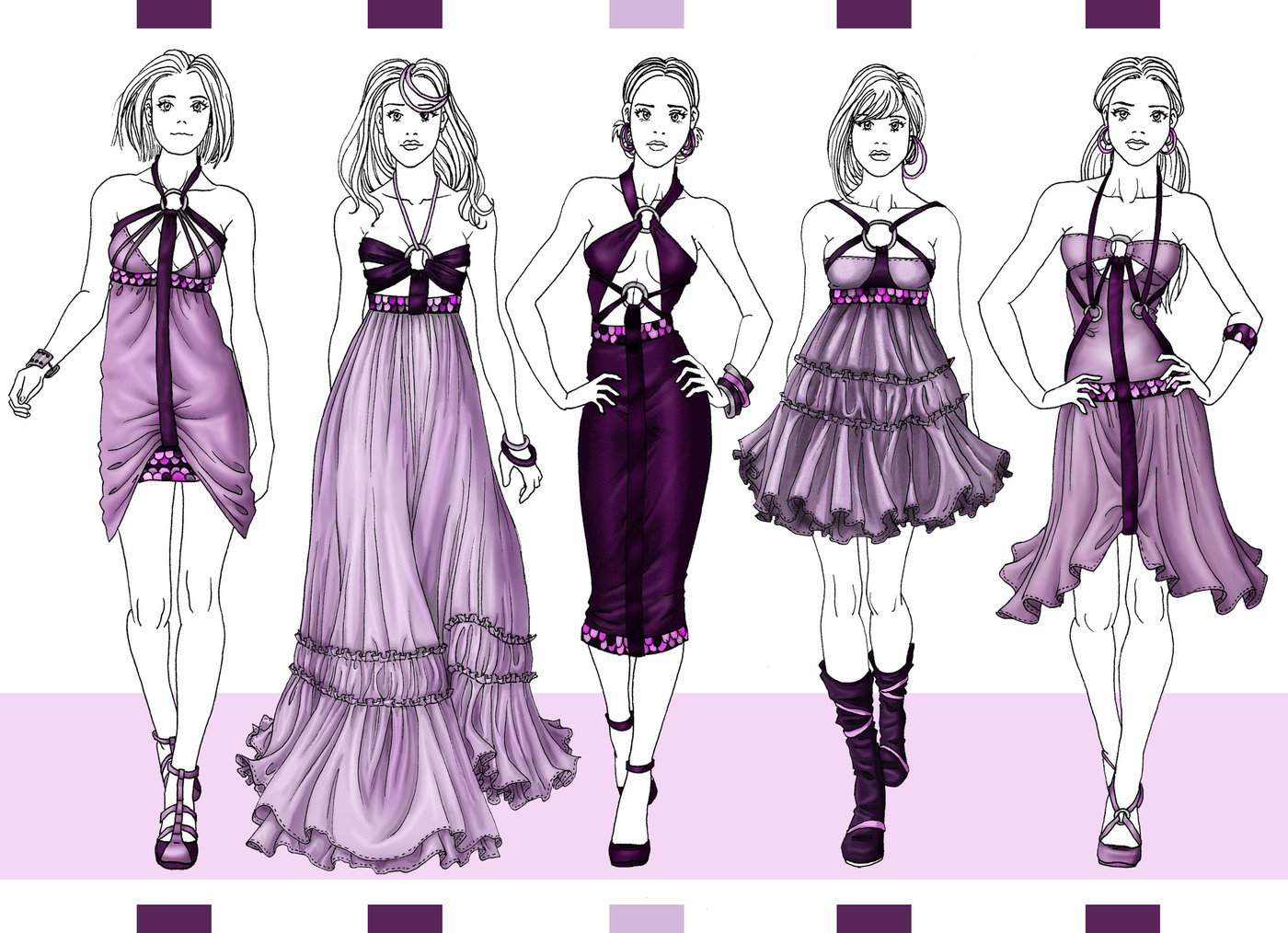 Женская Одежда Рисунки