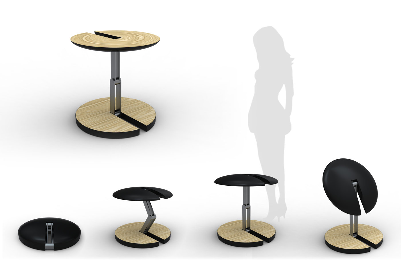 Senior Thesis Furniture   Preliminary Concepts For Members Of A Collapsible  Furniture Family.