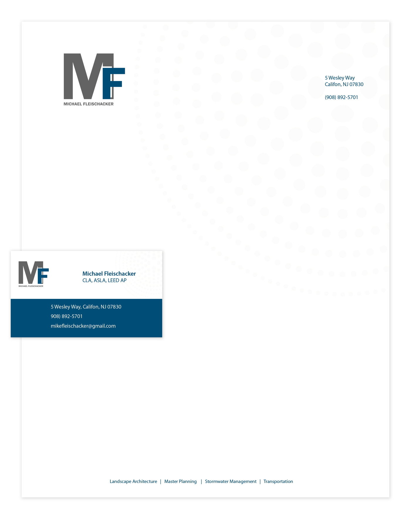 Letterhead and business cards choice image free business cards letterhead and business cards by carla short at coroflot michael fleischacker letterhead and business card michael magicingreecefo Image collections