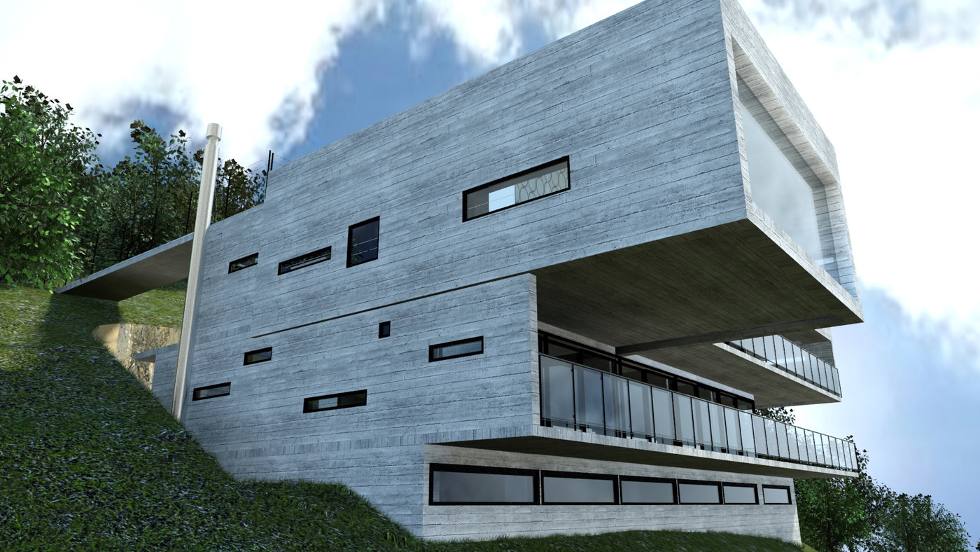 3dmax revit arquitectura by claudio vasquez at - Revit exterior rendering settings ...