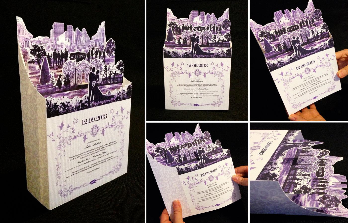 Creative wedding invitations. Paper art. by Olga Cuzuioc Sinchevici ...