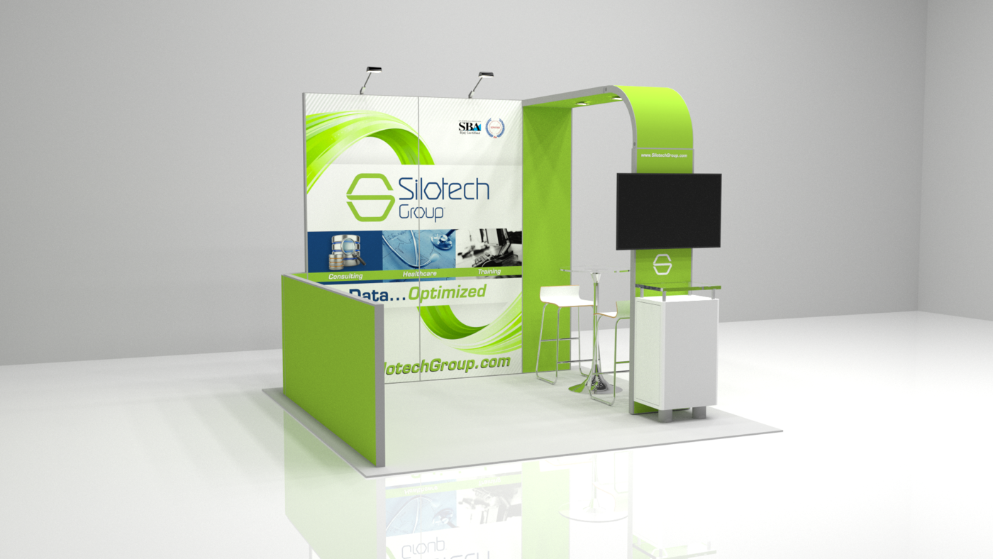 Fabric Pop Up Exhibition Stands : Silotech bematrix booth by griffin gregor at coroflot