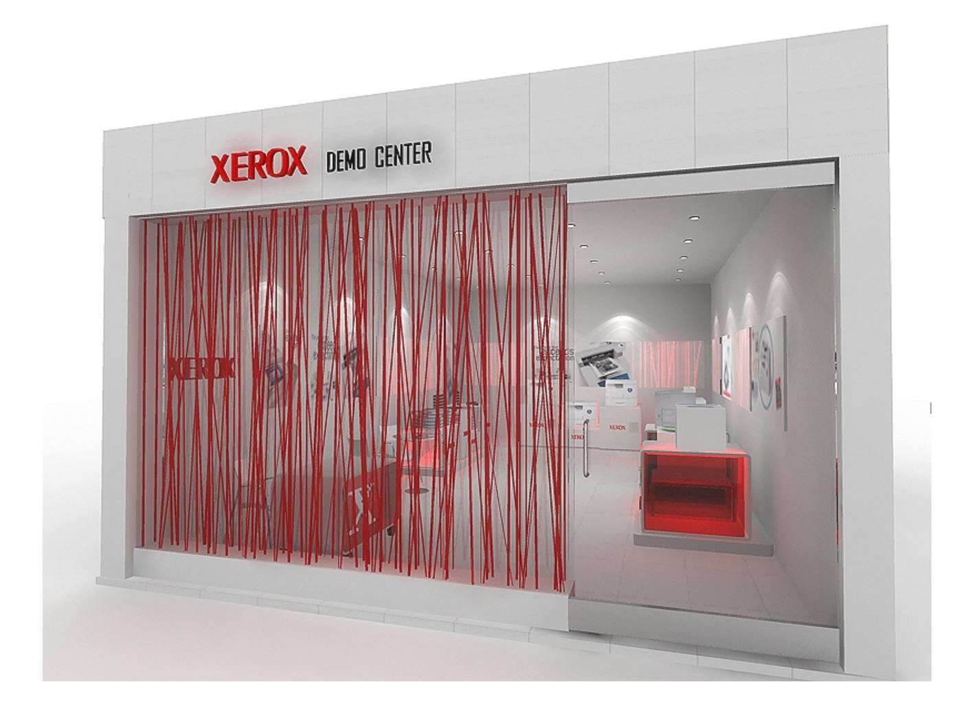 Store Design For Xerox  Project Done At Shark Design Studio ,New Delhi    The Concept Is Derived From The Key Function That The Product Range  (photocopiers ...