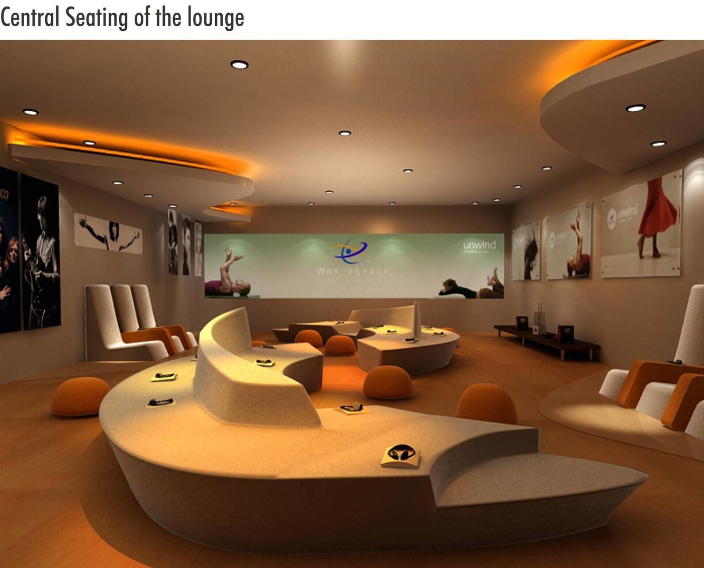Final Look Of The Seating  Project Done At Shark Design Studio.   The  Central Seating Was Designed As A Sculptural Element To Be The Main Focus  Of The ...