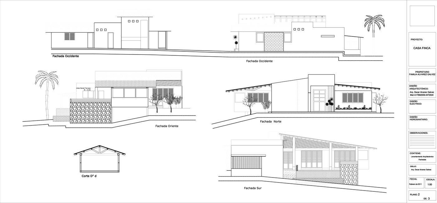 Diseño Casa de campo vereda La Cabaña Mzles 2011 by Arq. Oscar ...