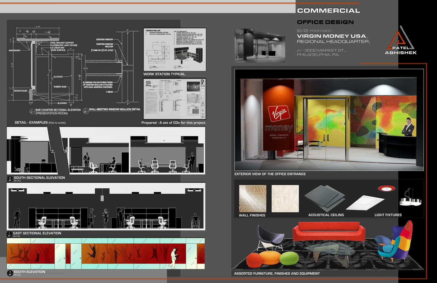 Interior Architecture Design Portfolio Sample By Abhishek Patel Cid Leed Ap At