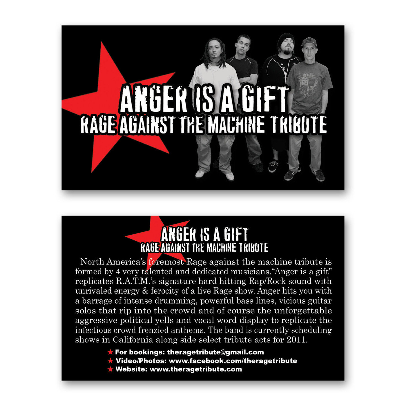 The Rage Tribute Band Anger is a gift by Johnny Mar at Coroflot.com