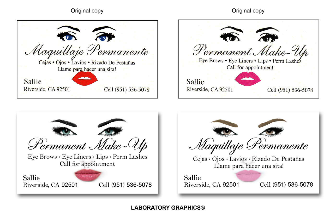 Business cards by johnny mar at coroflot permanent make up business card this is a recreation of the companys original business card remade with realistic facial features magicingreecefo Image collections