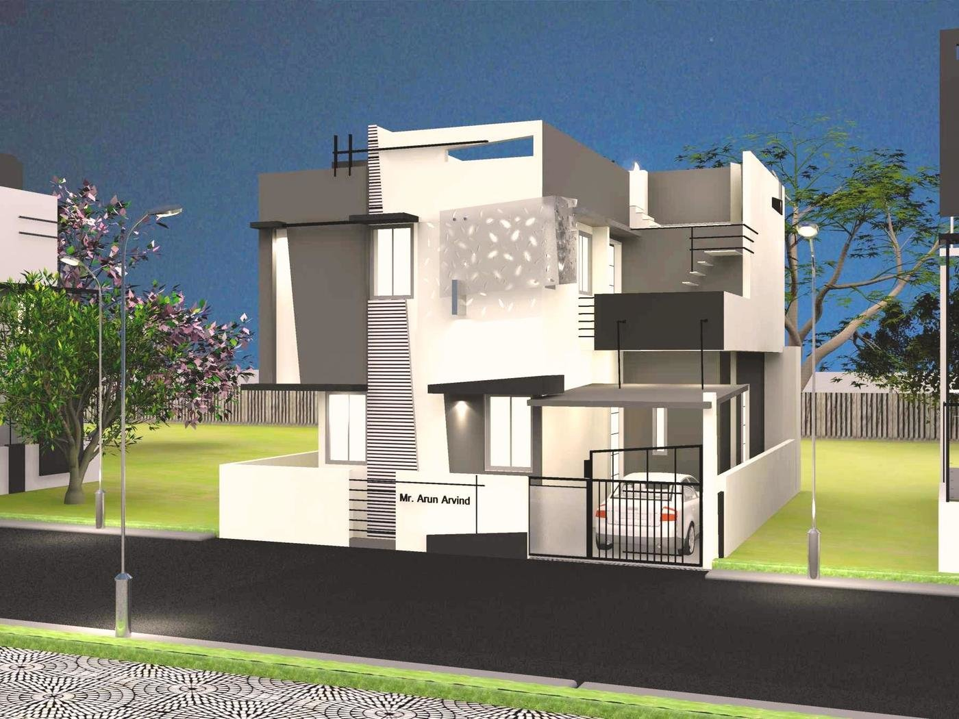 Front Elevation Designs In Bangalore : Contemporary architecture house designs commercial