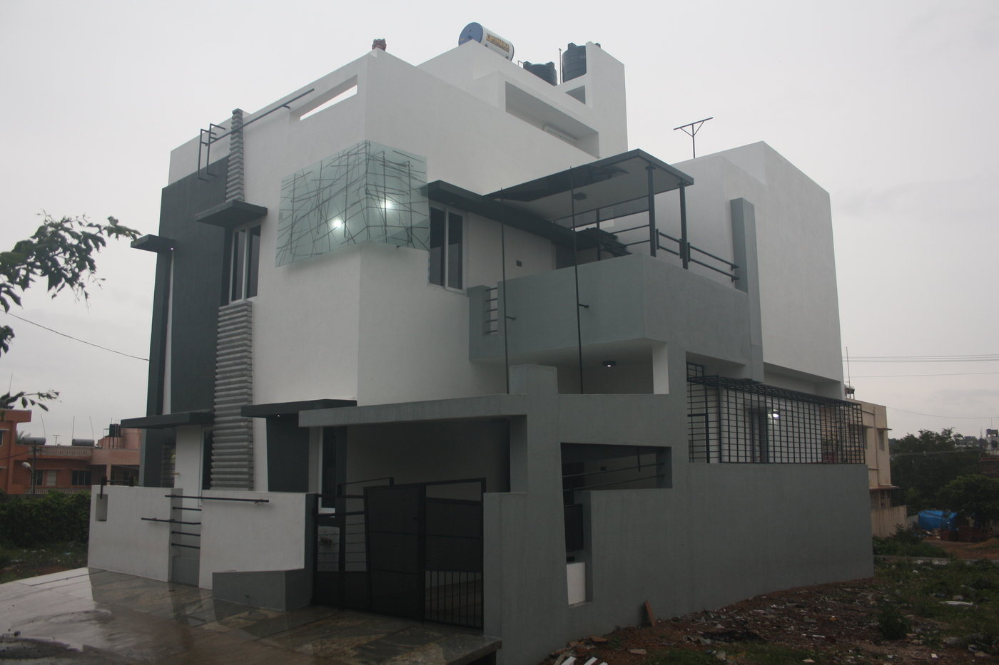 Front Elevation Duplex House Bangalore : House designs bangalore front elevation by ashwin
