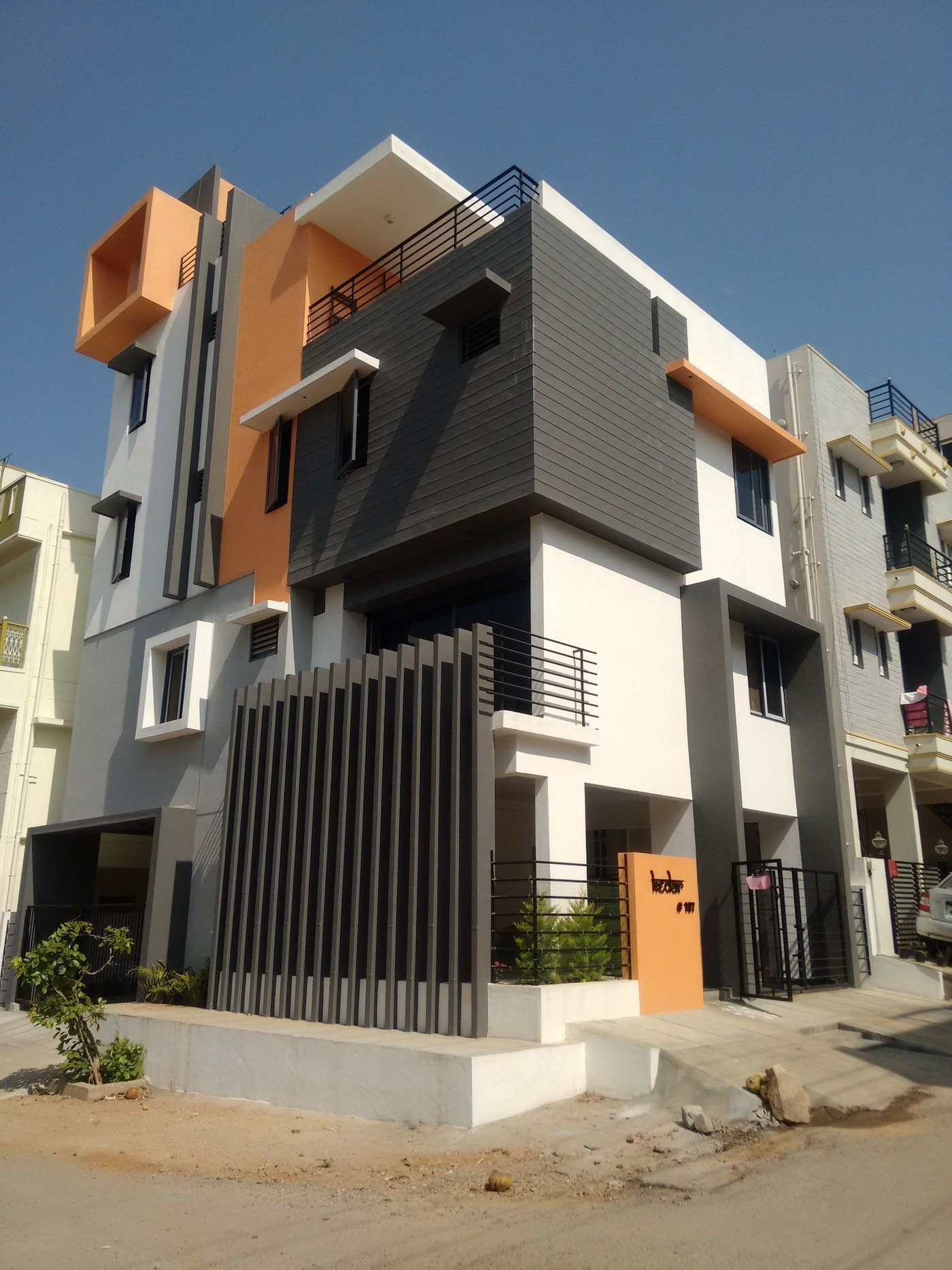 Front Elevation Designs For Houses In Bangalore : Bhk house architects in bangalore by ashwin
