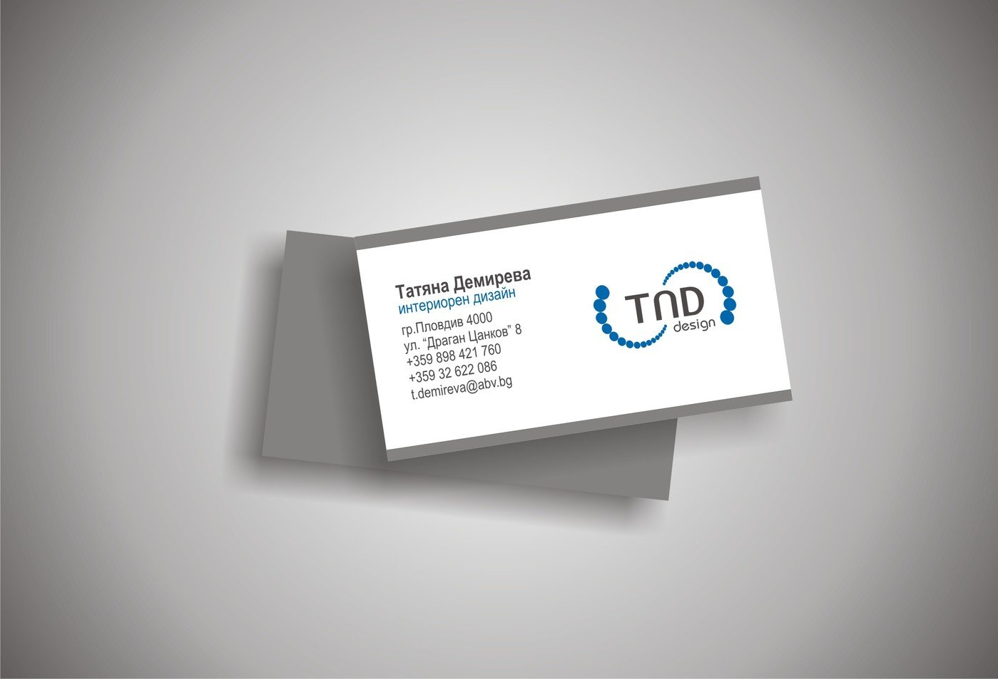 Print design by antonia marina at coroflot tnd design a studio for interior design design of a business card for tnd design a studio for interior design two sided size 90 mm x 50 mm magicingreecefo Image collections