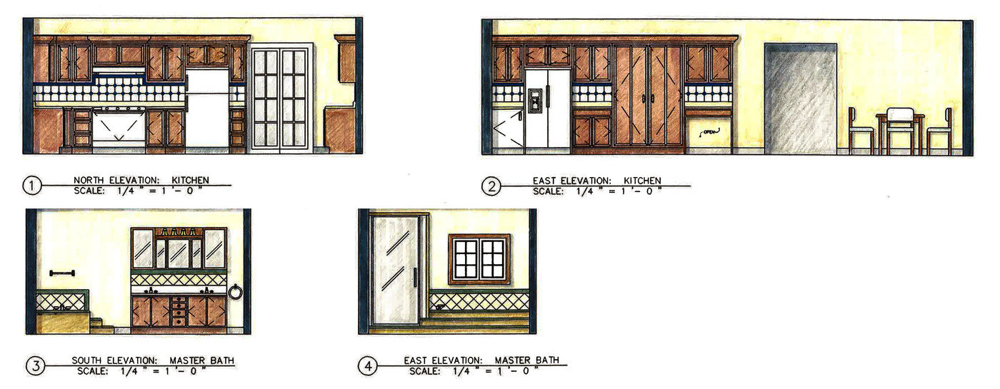 Floor and elevation renderings by laurie davis at for Plan rendering ideas
