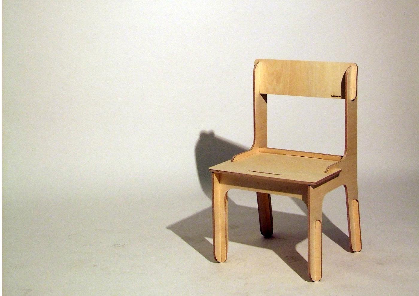 flat pack chair by ka wai ng at. Black Bedroom Furniture Sets. Home Design Ideas