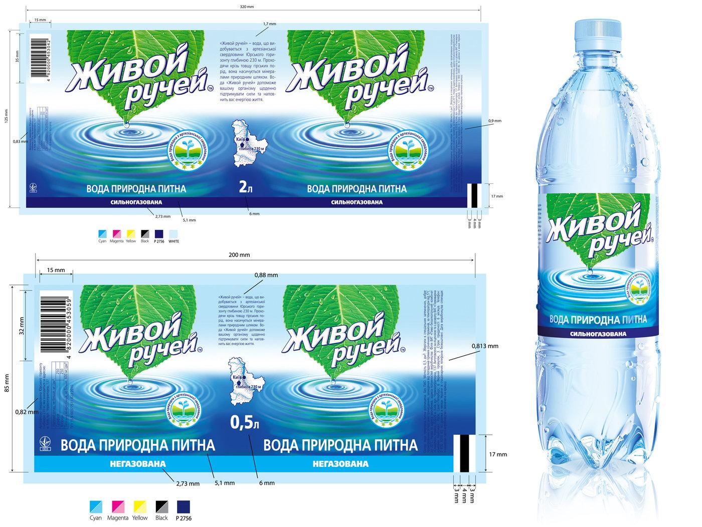 Дизайн этикетки на минеральные воды