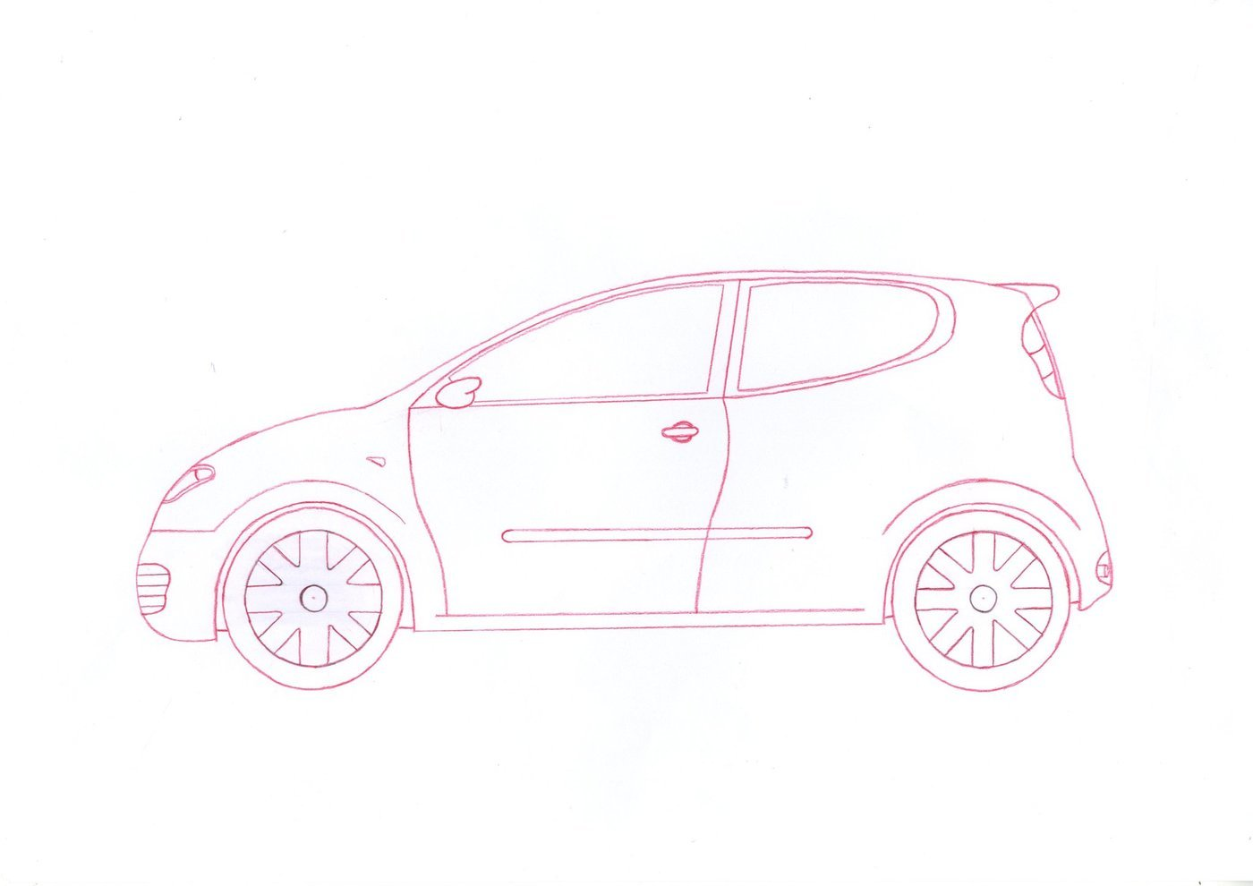 Line Drawing Car : 1st year by michael potter at coroflot.com