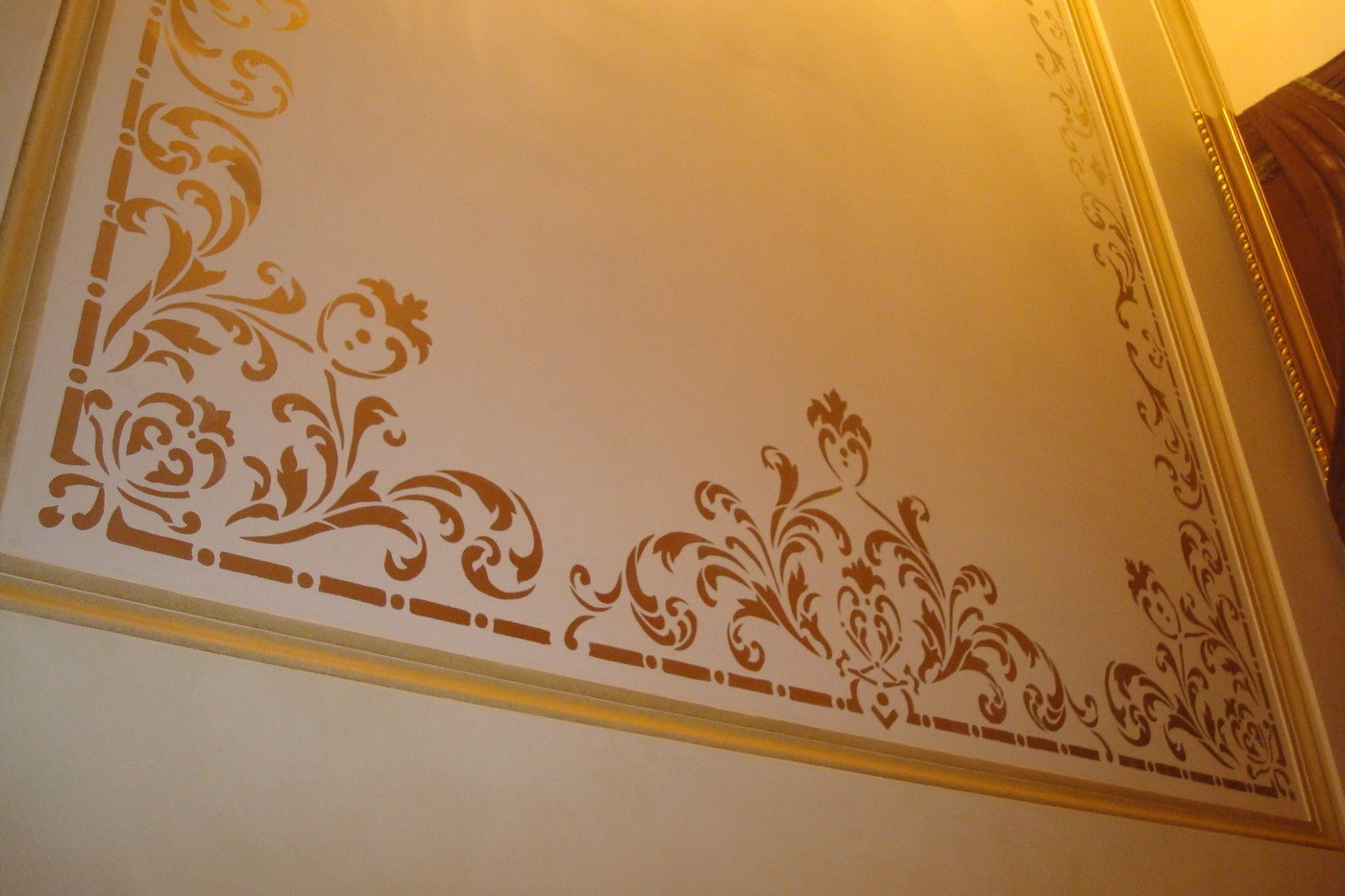Ceillingsstencil by reda mohamed at coroflot stencil classic ornements stenciling with gold amipublicfo Choice Image