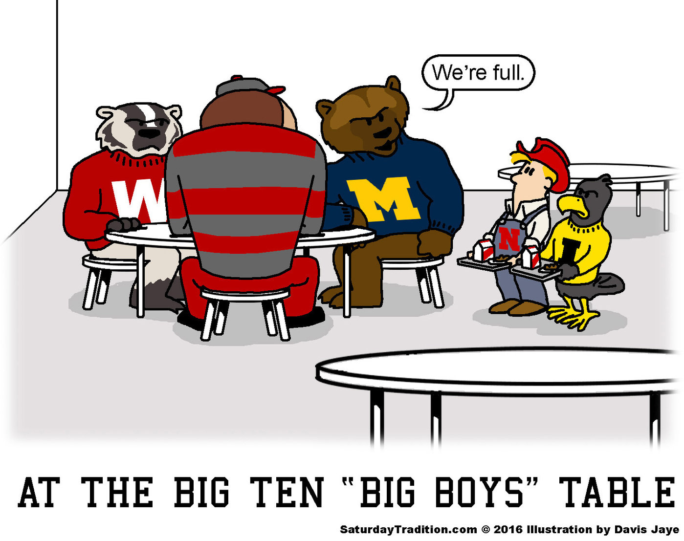Big ten football cartoons by davis jaye at - Football conference south league table ...