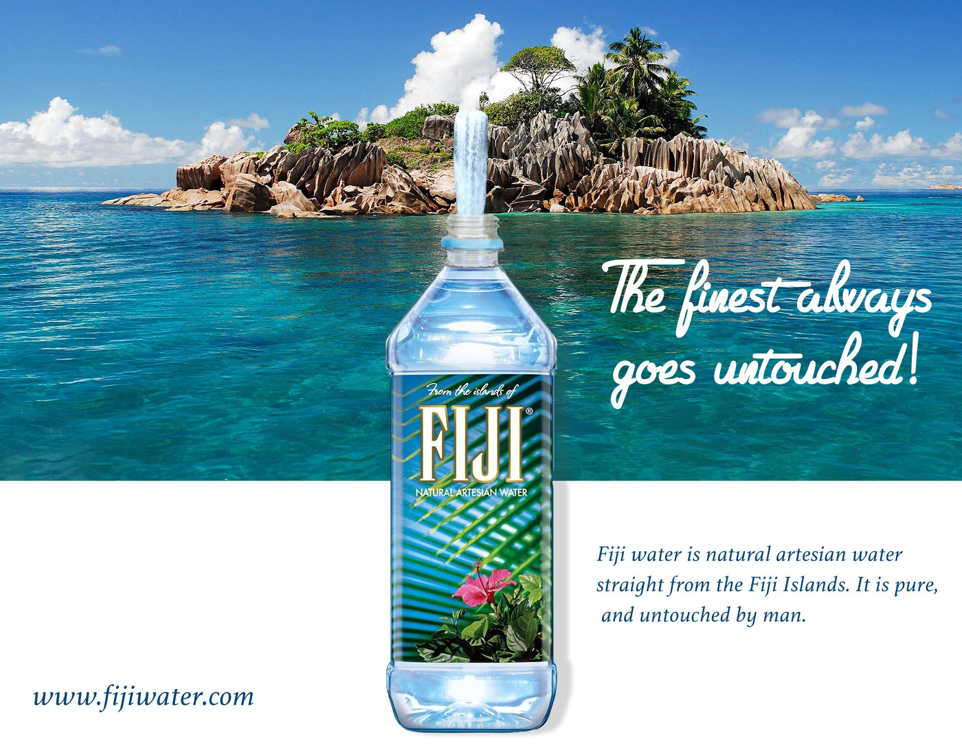 Fiji Water Poster By Quinique Dozier At Coroflot Com