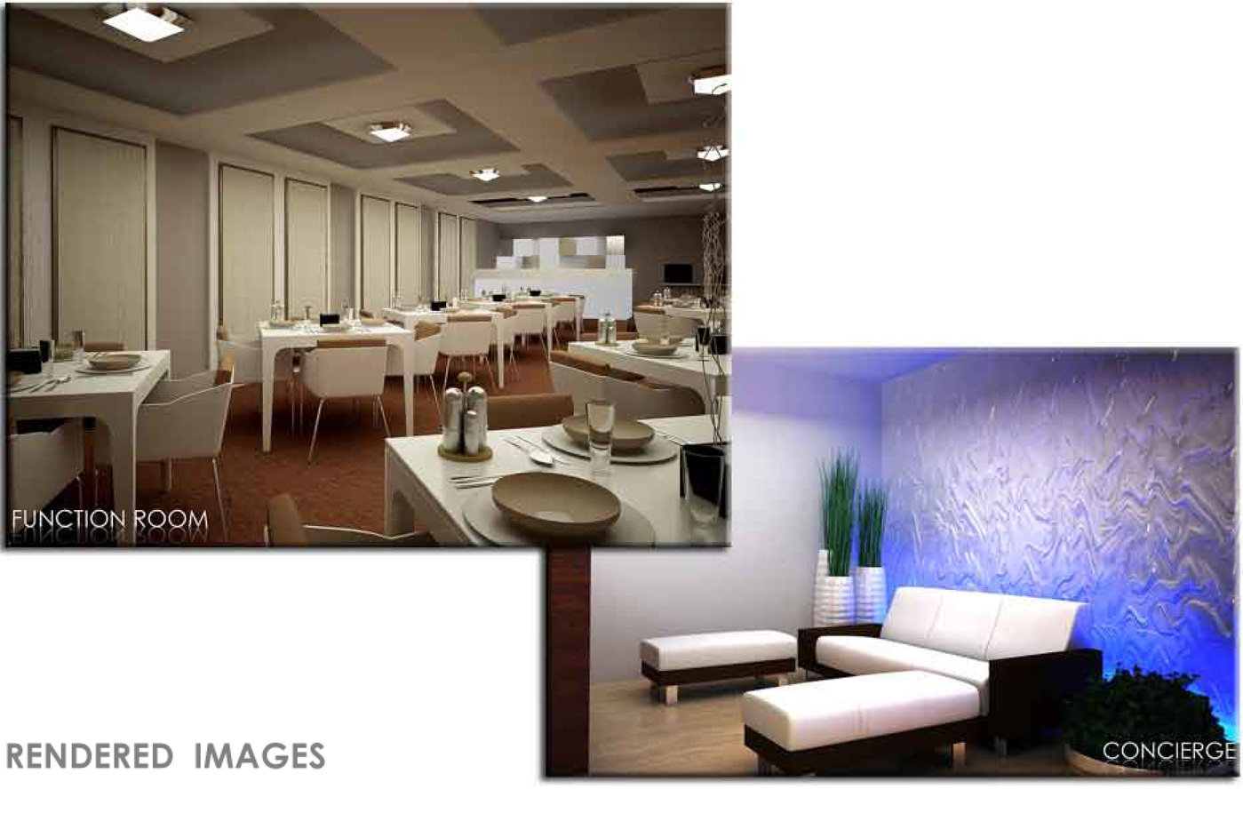 Interior design for school hotel restaurant