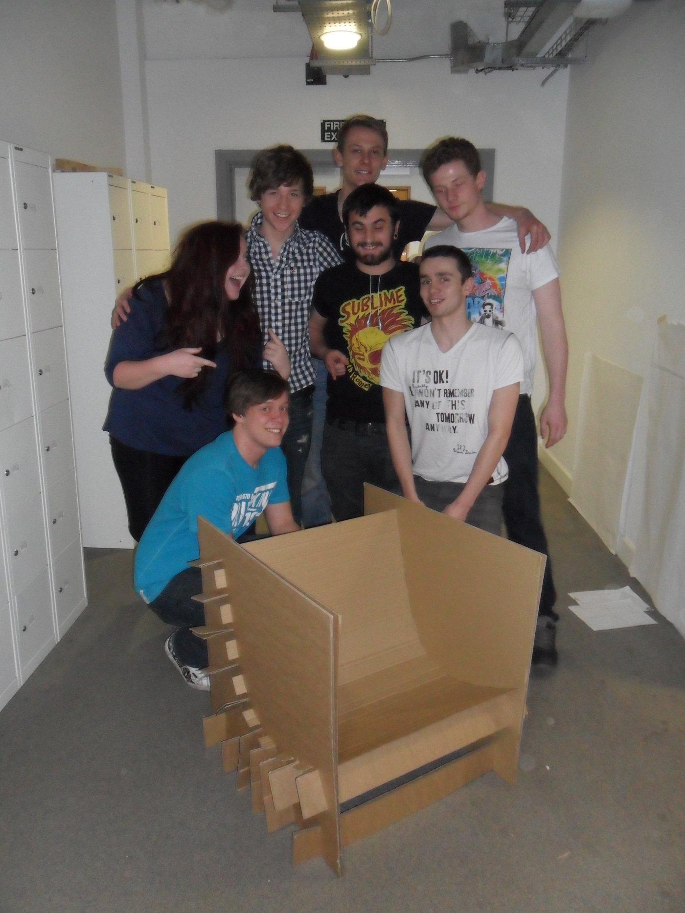 Cardboard Chair by Peter Elder at Coroflot.com